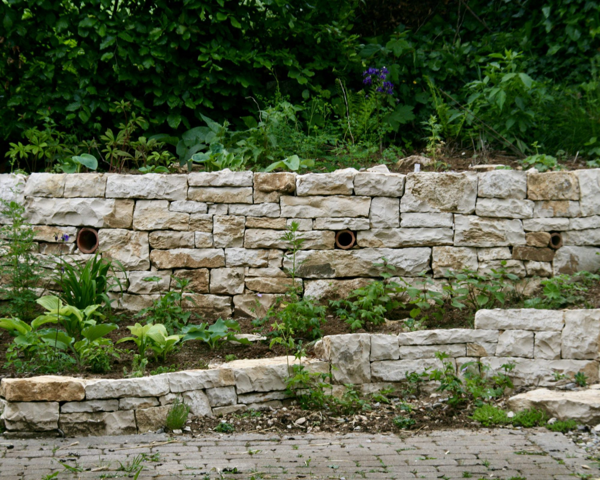 Trockenmauer aus Acker-Lesesteinen